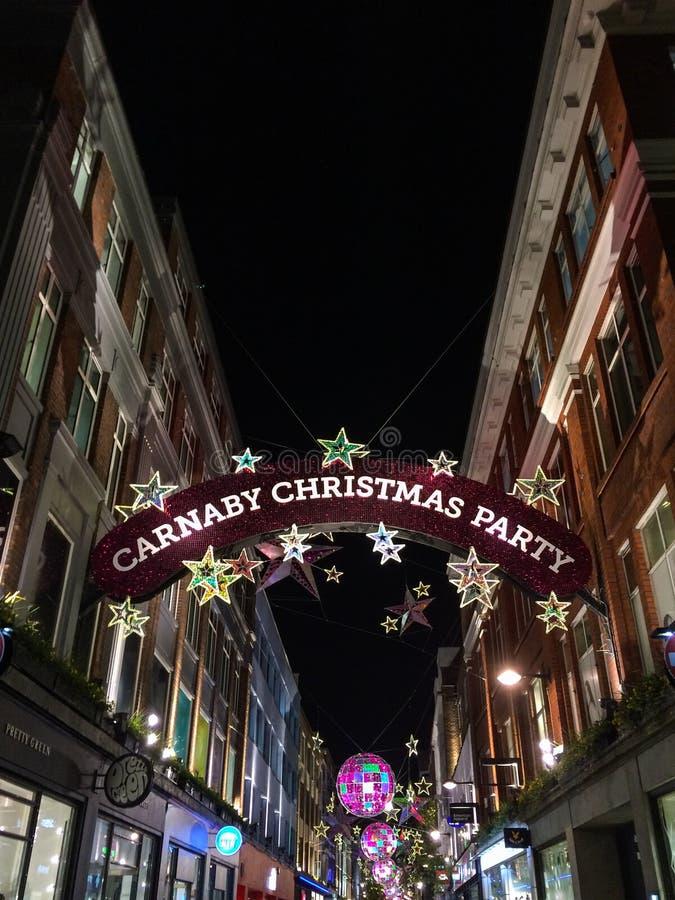 Fiesta de Navidad de Carnaby foto de archivo