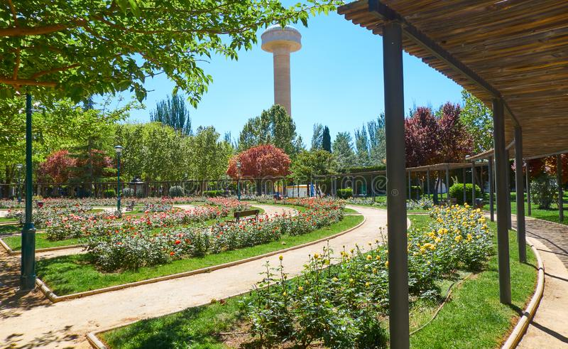 Fiesta del Arbol πάρκο στο Albacete Ισπανία στοκ φωτογραφίες