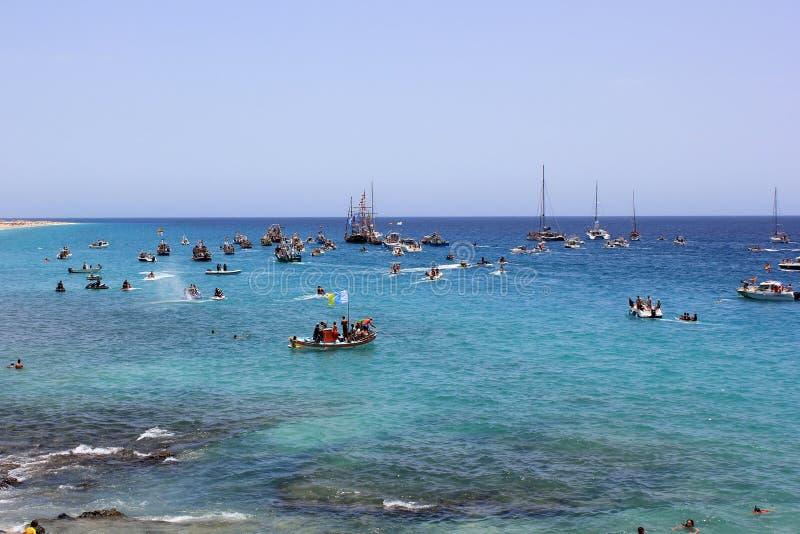 fiesta del Carmen à Fuerteventura images libres de droits