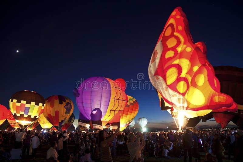 Fiesta del globo del aire caliente en Albuquerque fotografía de archivo