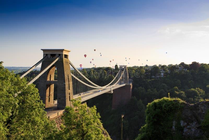 Fiesta del puente y del globo de suspensión de Clifton imagen de archivo libre de regalías