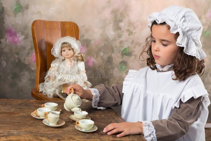 Fiesta del té del vintage fotografía de archivo
