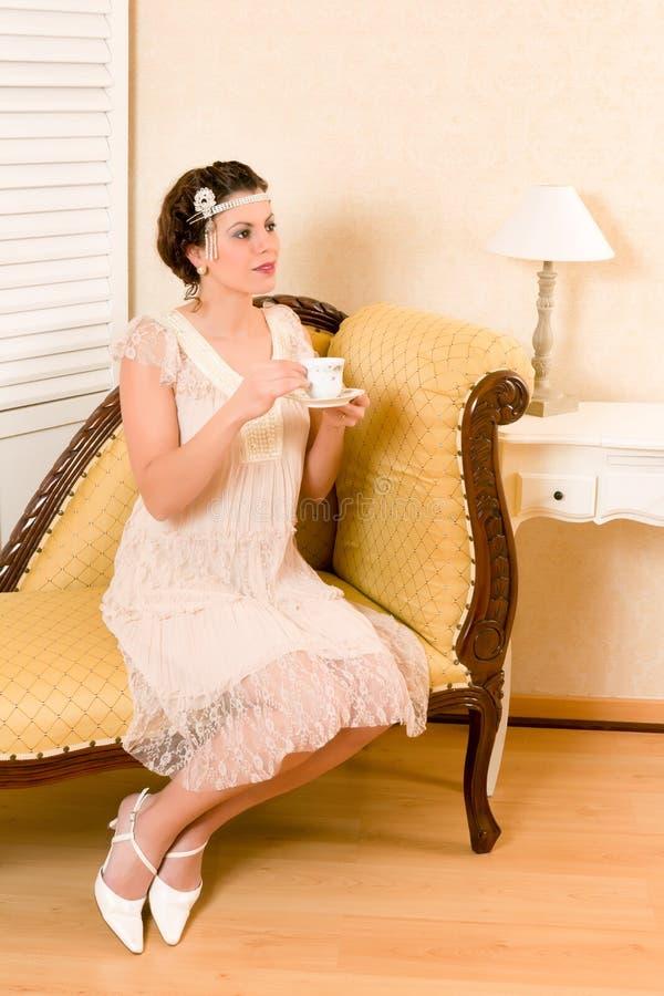 Fiesta del té del vintage imágenes de archivo libres de regalías