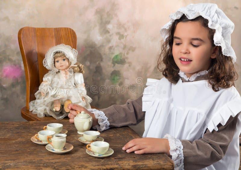 Fiesta del té victoriana imágenes de archivo libres de regalías