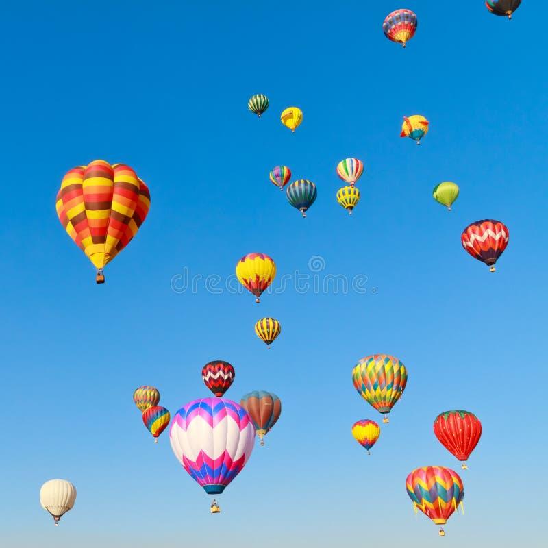 Fiesta för ballonger för varm luft royaltyfria bilder