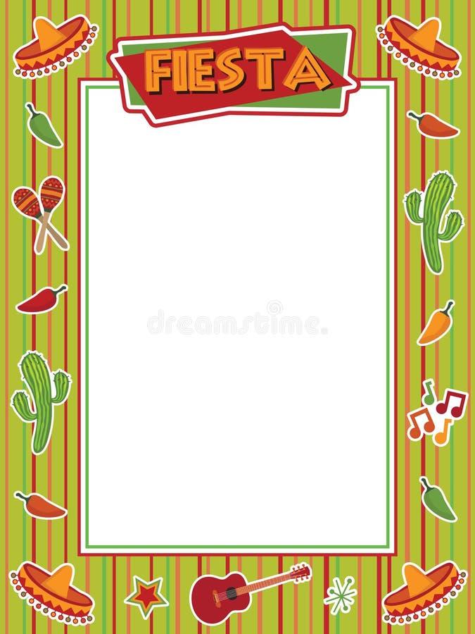 Fiesta frame vector illustration