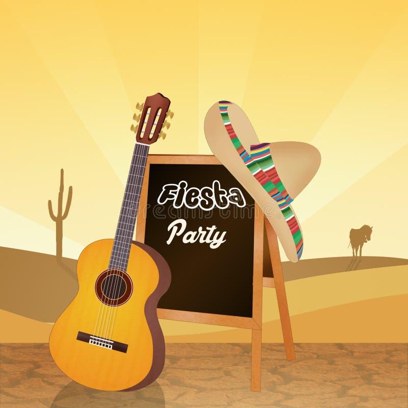 Fiesta Mexicaanse partij royalty-vrije illustratie