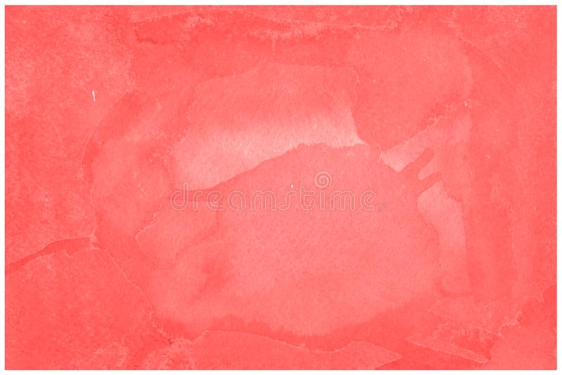 Fiesta red orangeFiesta red orange abstract watercolor hand paint texture. Fiesta red orange watercolor background trendy colors with sharp borders and divorces stock photography