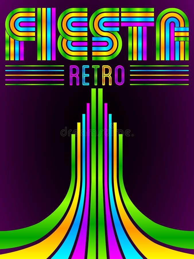 Fiestaaffiche vector illustratie