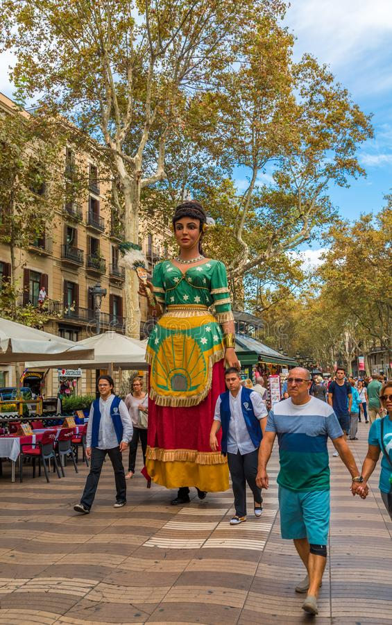 Fiestakarakter in Barcelona royalty-vrije stock afbeelding