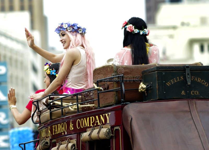 Fiestaparade San Antonio Texas stock afbeeldingen