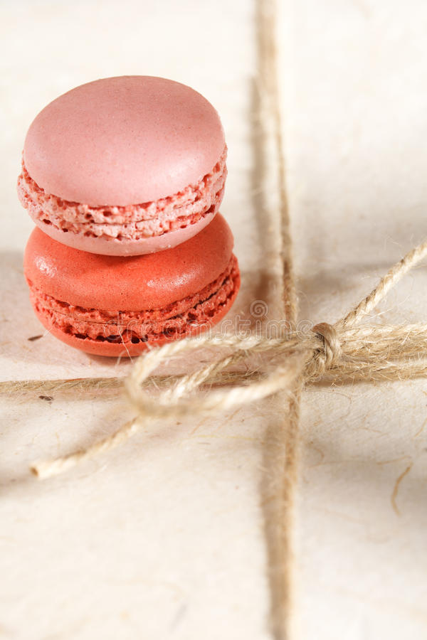Download Fiestive Macaroons On Gift Present Box Stock Photo - Image: 18458290