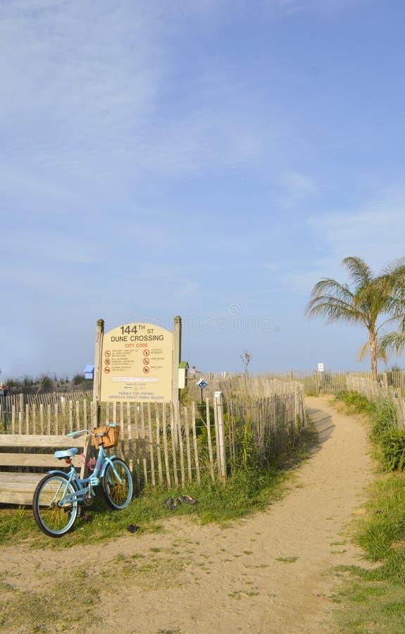Fiets bij het strand stock foto's