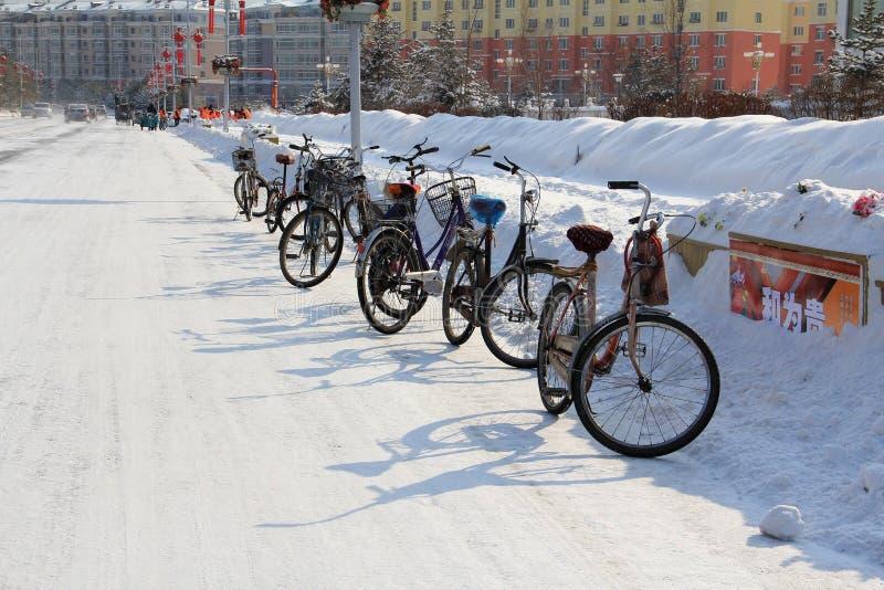 Fiets; fiets; cyclus; duwfiets; duwcyclus stock fotografie