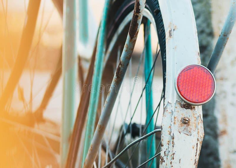 Fiets, deel, achterreflectorkoplamp stock fotografie