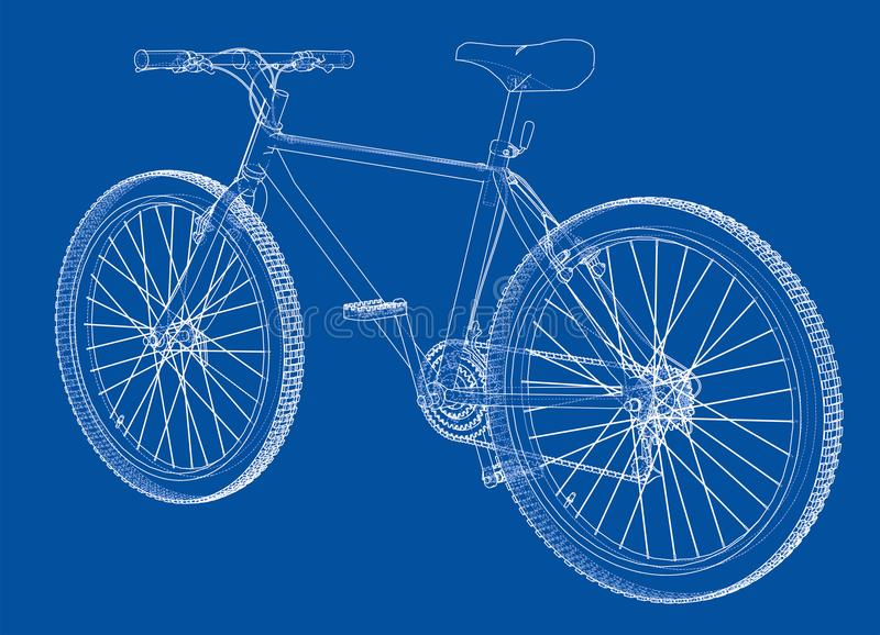 Fiets Draad-kader stijl Vector vector illustratie