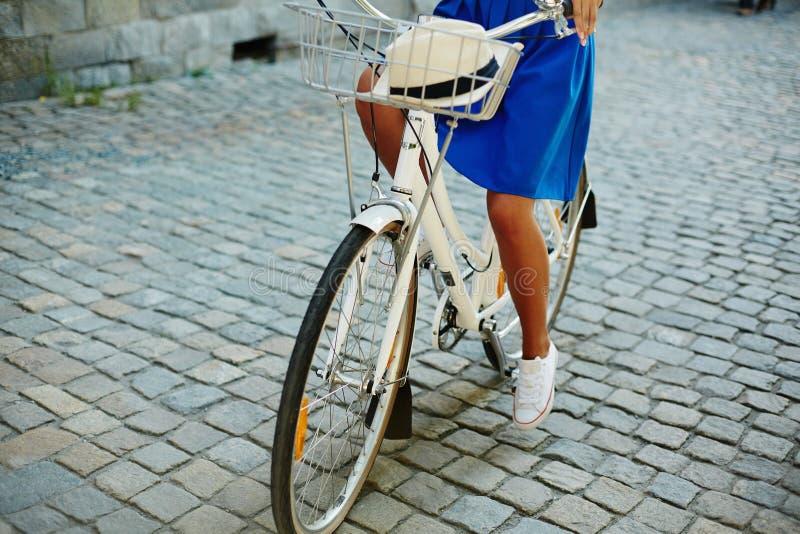 Fiets en fietser stock foto's