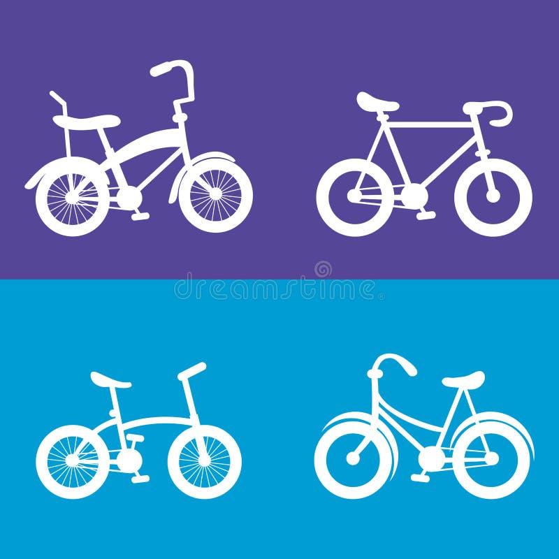 fiets en het cirkelen verwant pictogrammenbeeld vector illustratie