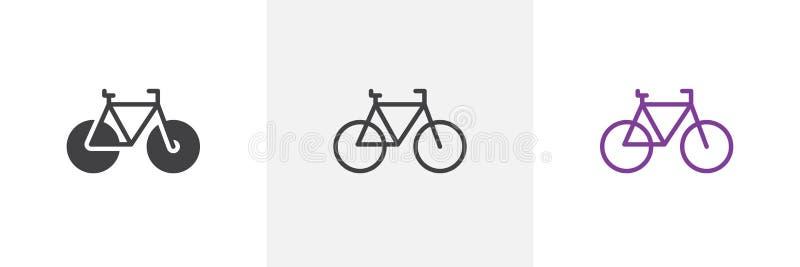 Fiets, fietspictogram stock illustratie