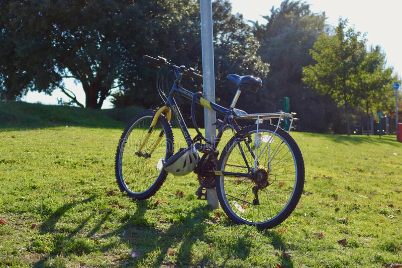 Fiets op Sunny Autumn Day stock foto's