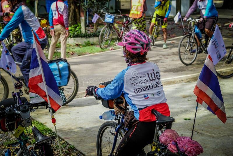 Fiets openbare gebeurtenis, Lopburi, Thailand royalty-vrije stock foto's