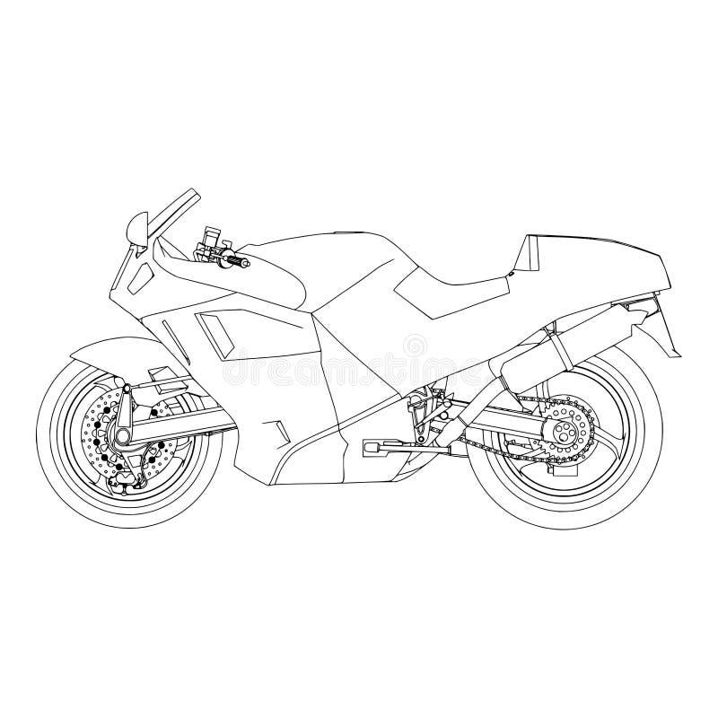 Fiets van het sport de vectoroverzicht Extreem vervoer stock illustratie