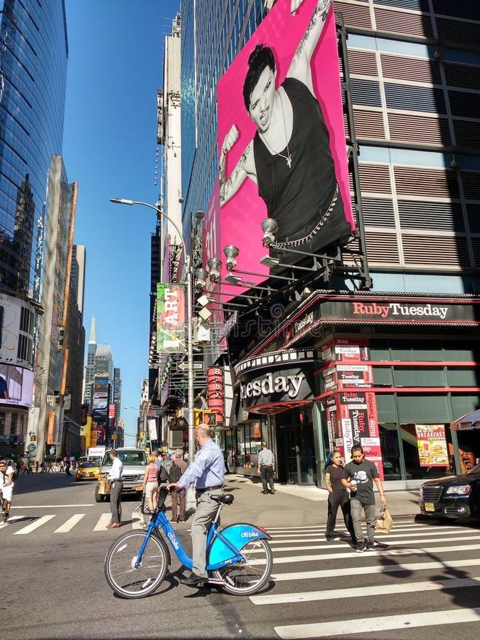 Fietsaandeel, Citi-Fiets, NYC, NY, de V.S. royalty-vrije stock foto's