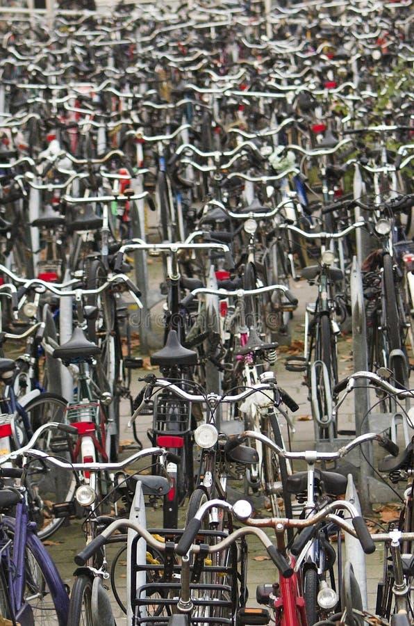Fietsen in Delft stock foto's