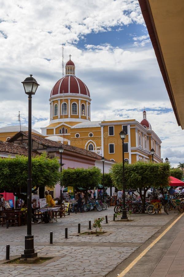 Fietsen voor huur in Granada royalty-vrije stock foto