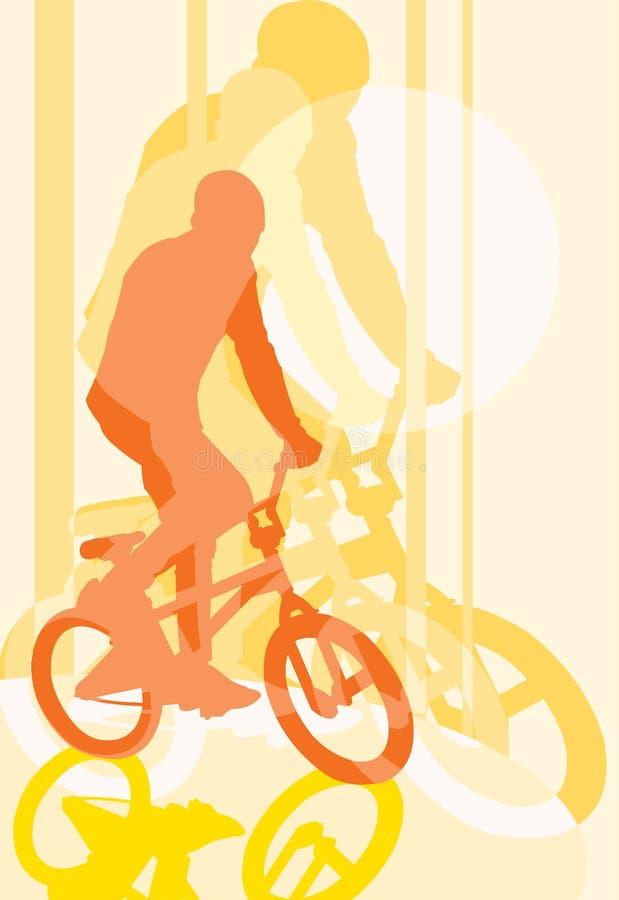 Fietser BMX vector illustratie