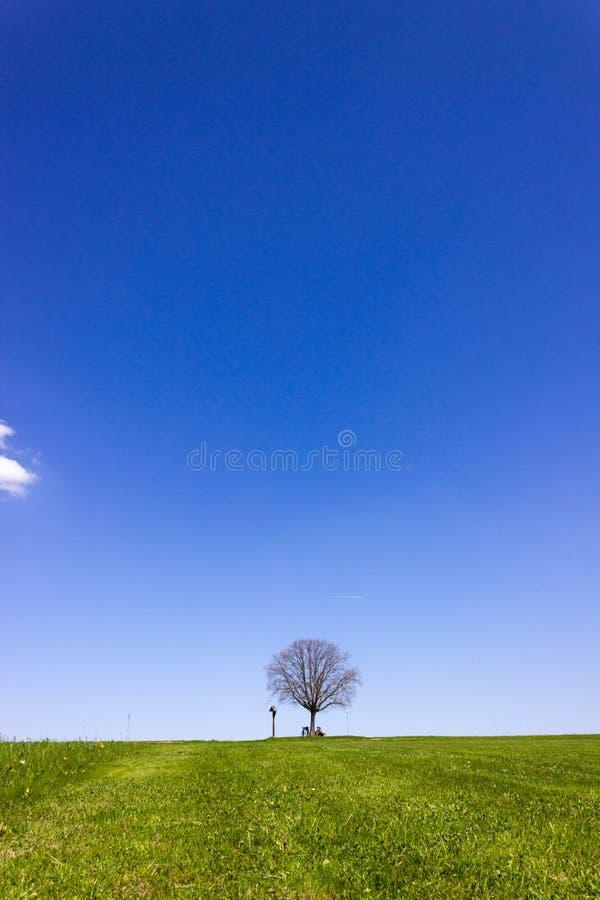 fietser op de horizon stock afbeeldingen