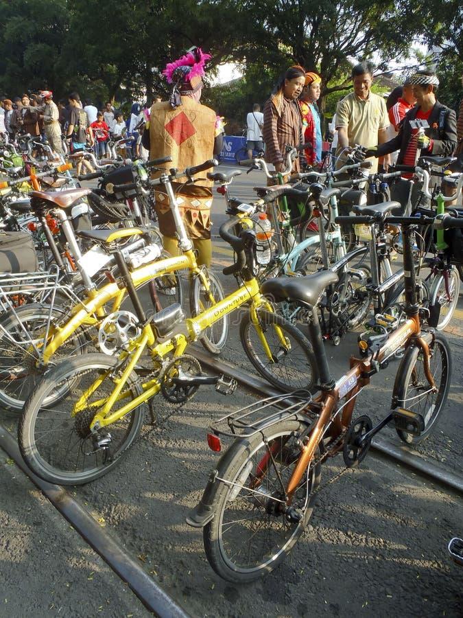 fietsers royalty-vrije stock foto's