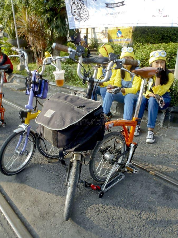 fietsers royalty-vrije stock afbeelding
