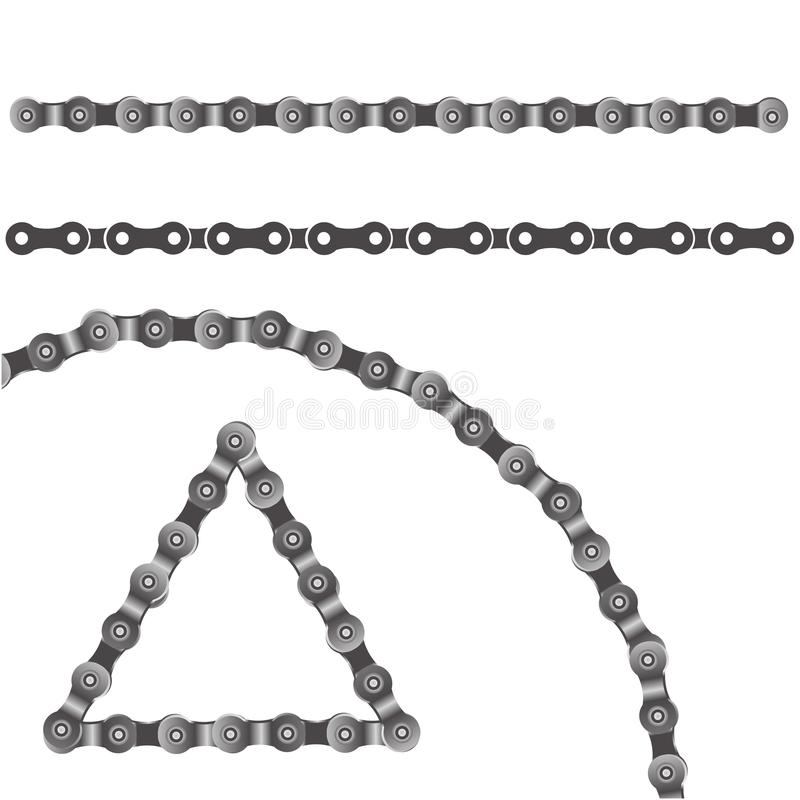 Fietsketting stock illustratie