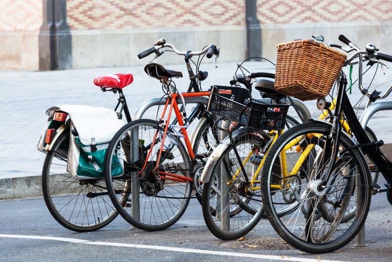 Fietsparkeren stock afbeelding