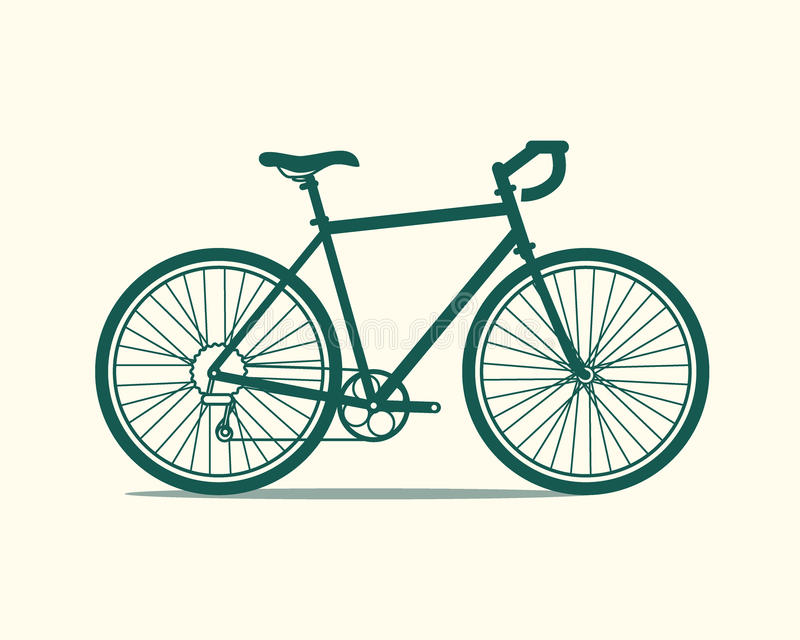 Fietspictogram vector illustratie
