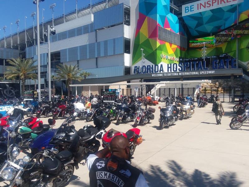 Fietsweek in Daytona Beach royalty-vrije stock foto's