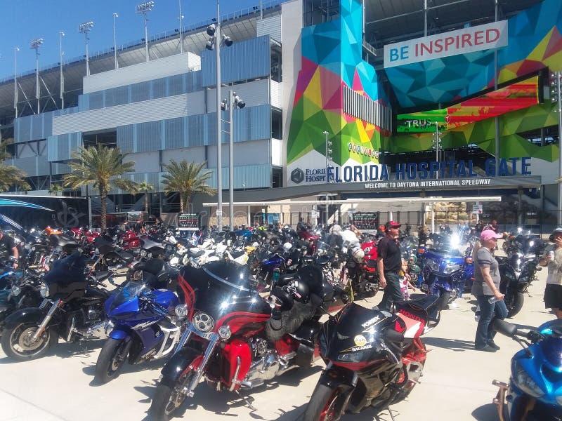 Fietsweek in Daytona Beach royalty-vrije stock afbeeldingen