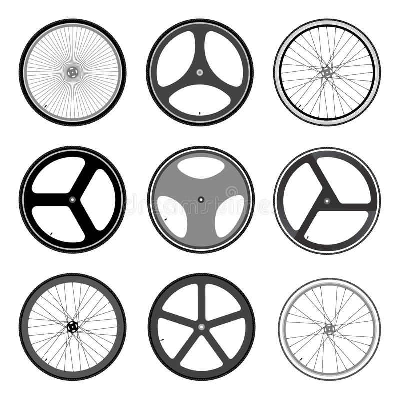 Fietswiel vector illustratie