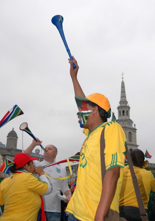 FIFA-2010 Feier, Trafalgar Quadrat stockbild