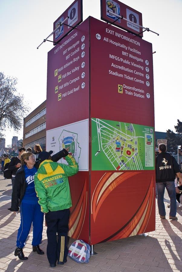 fifa 2010 stöttar volontärwc arkivbilder