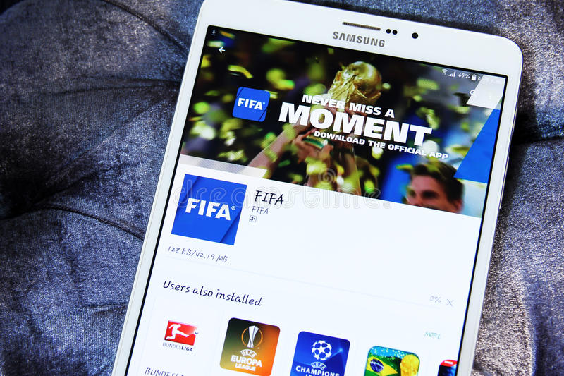 Fifa APP photographie stock