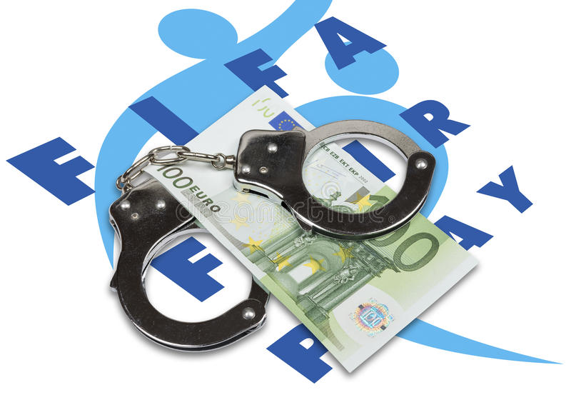 FIFA corruption scandal in the granting of rights to host the FIFA World Cup. stock photos