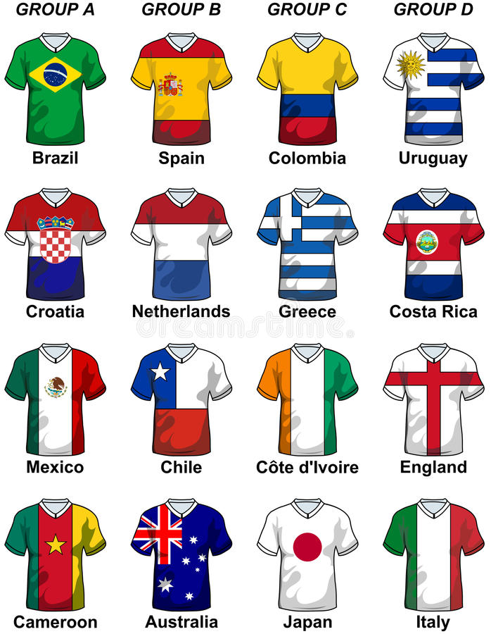 2014 Fifa-de Groep van Wereldbekerbrazilië stock illustratie