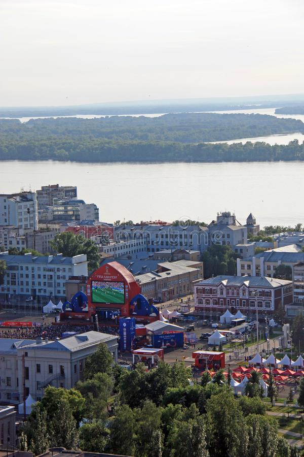 FIFA fan fest in Samara, Russia royalty free stock images