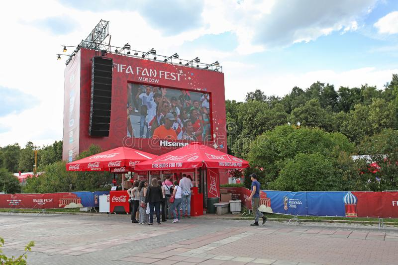 FIFA 2018 Fan Fest on Sparrow Hills, Moscow stock photography