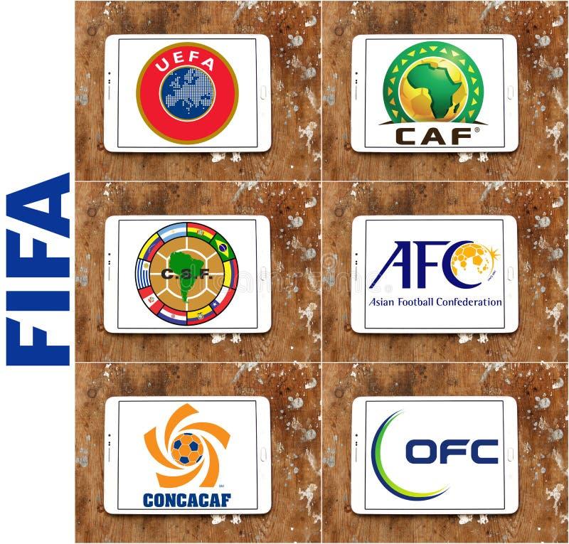 Fifa konfederacj futbolowi emblematy i logowie (piłka nożna)