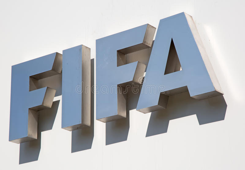 FIFA sedia imagem de stock