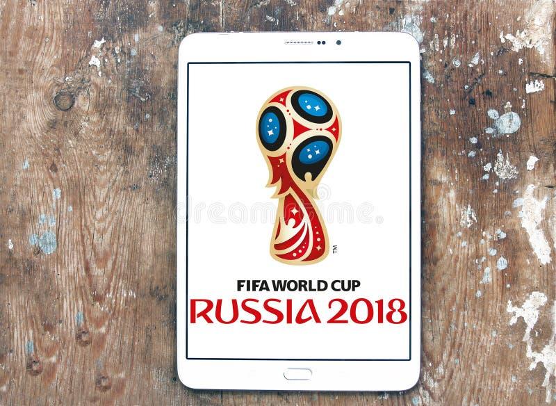 FIFA världscupRyssland logo 2018 royaltyfria foton