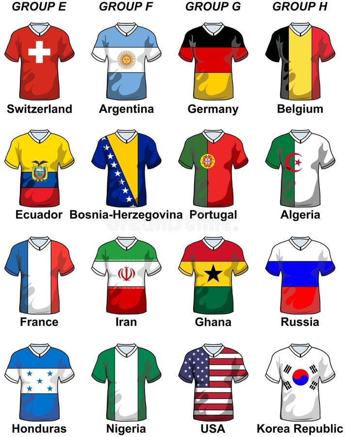 Fifa-Weltcup-Brasilien-Gruppen 2014 lizenzfreie abbildung